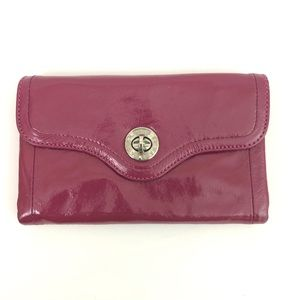 Marc By Marc Jacobs Turnlock Trifold Wallet Clutch